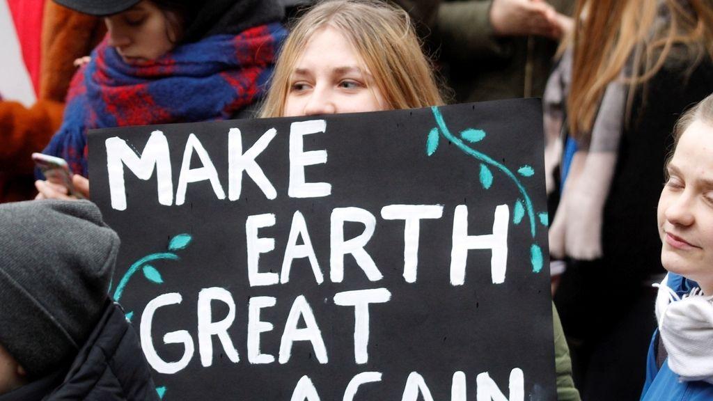 La manifestación contra el cambio climático en el mundo