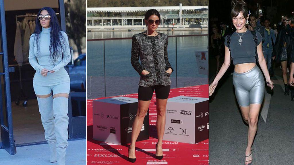 Tendencia culottes de ciclista: Macarena García luce en Málaga la moda que no entiendes pero que sienta genial