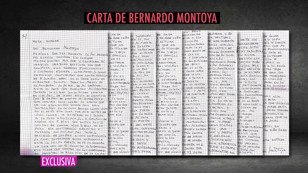 Carta Bernardo Montoya