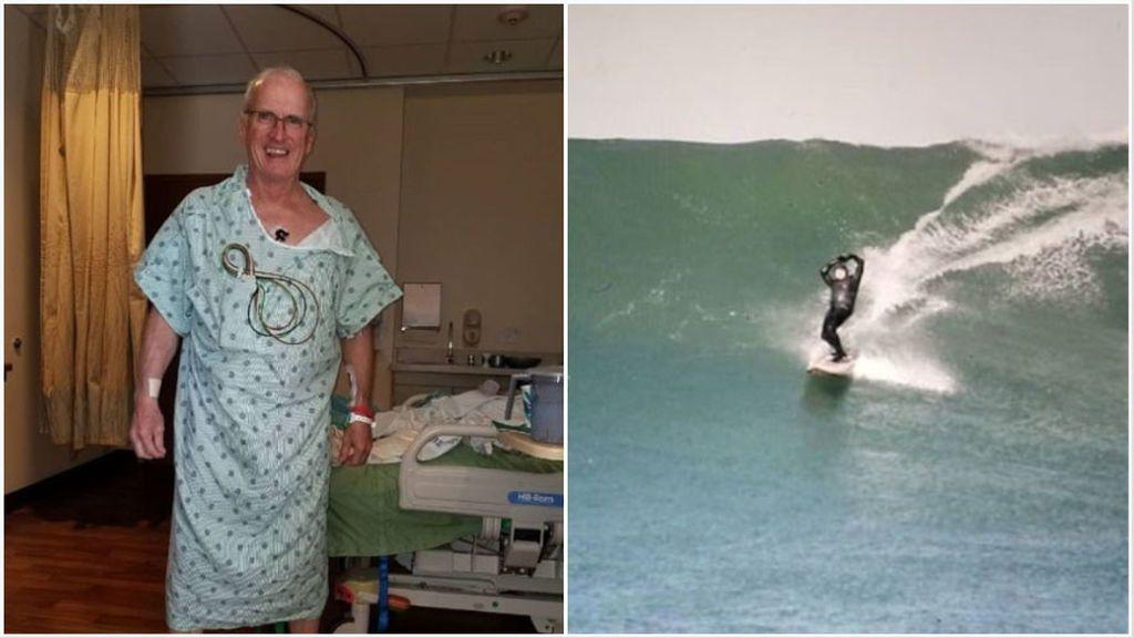 Sobrevive a un ataque al corazón cuando surfeaba olas gigantes en California