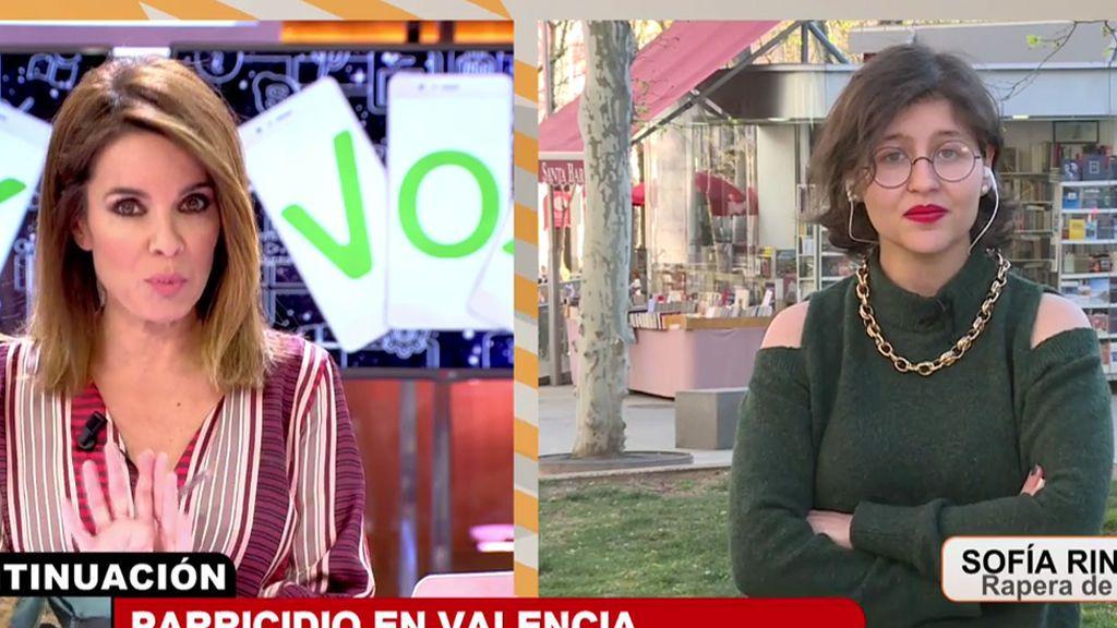 """Sofía Rincón, autora del rap de VOX, a Carme: """"Dejaos ya de mierdas de progres y fachas"""""""