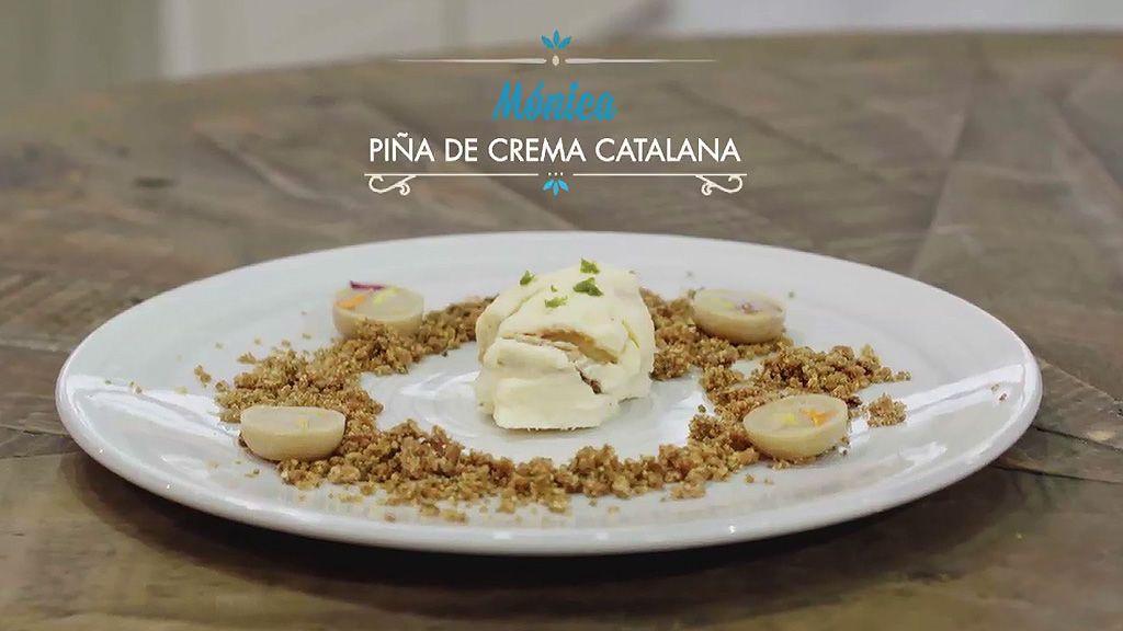 Piña de crema catalana