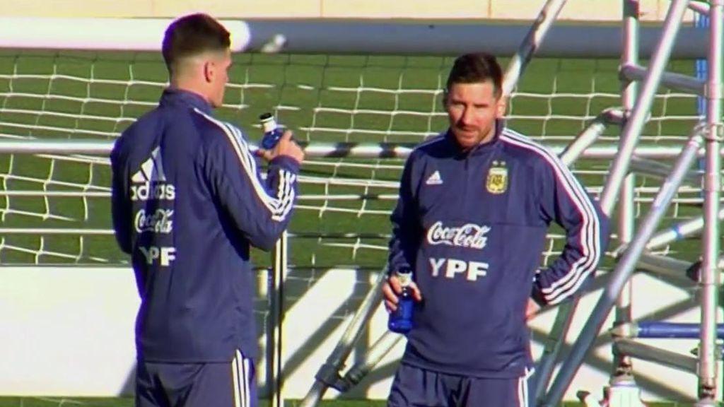 Messi, aclamado en Madrid por su vuelta a la albiceleste