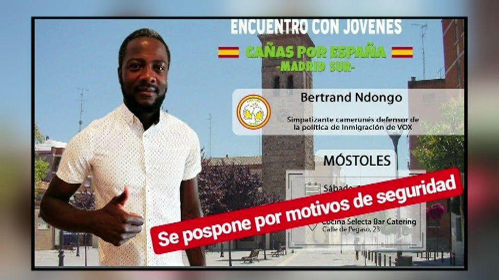 El camerunés de VOX lo aclara: no le amenazaron a él al anunciar su 'Cañas por España'