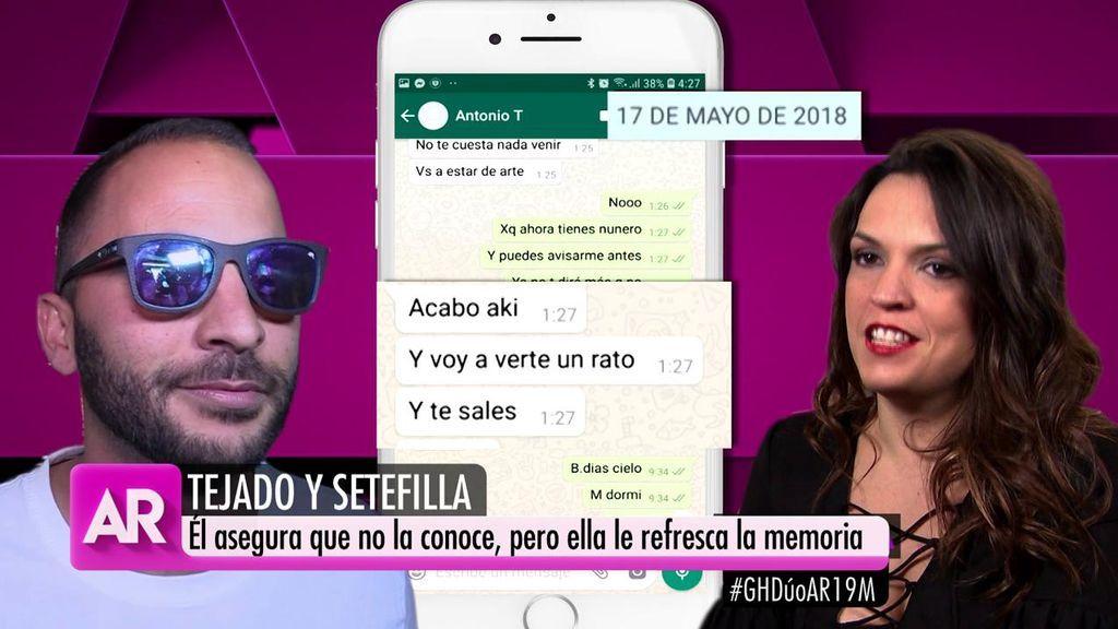 """Los mensajes entre Antonio Tejado y Setefilla: """"Ponte unas mallas y baja"""""""
