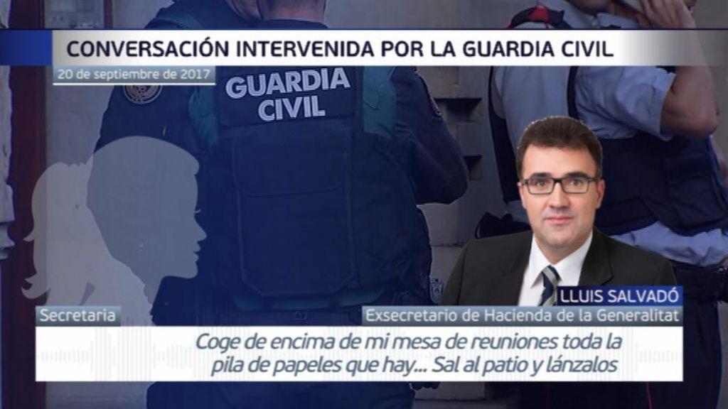 El número dos de Junqueras pidió a su secretaria que se deshiciera de documentación