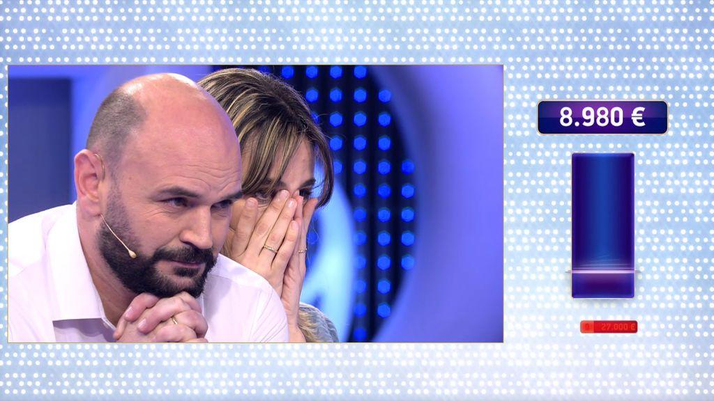 José Miguel y Gemma pierden 36.500 euros de golpe y se quedan sin premio