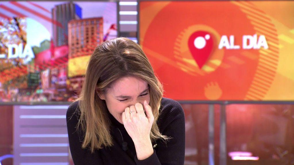 El ataque de risa en directo de Carme Chaparro: ''Voy a salir en todos los zapping''