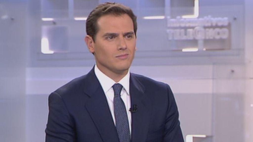 """Albert Rivera: """"Torra tiene que entender que Cataluña no es suya"""""""