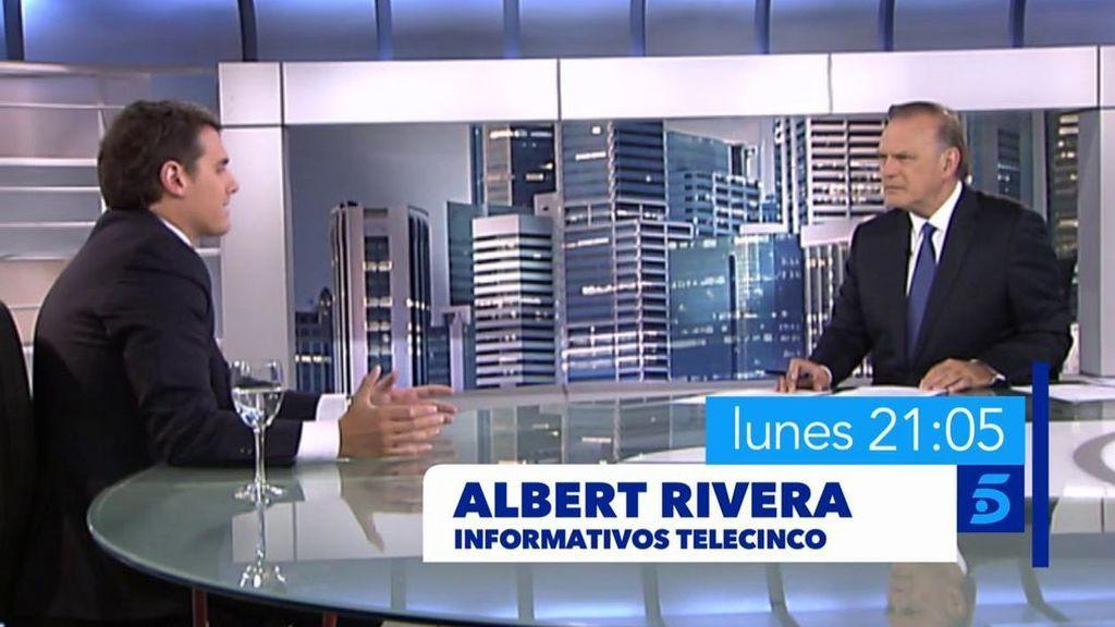 Pedro Piqueras entrevista en plató a Albert Rivera a partir de las 21 horas