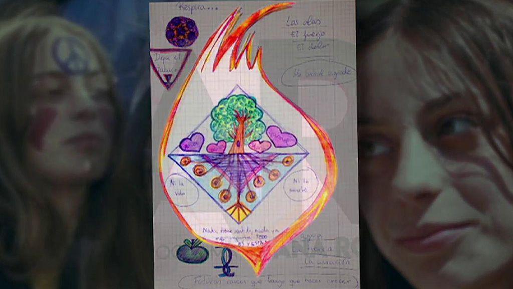 """Análisis del dibujo de la presunta parricida de Godella: """"La llama significa destrucción o una idea delirante de purificación"""""""