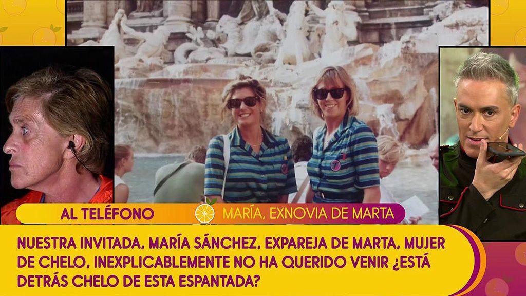 Chelo Gª Cortés habla en directo con la ex de su mujer y niega conocerla