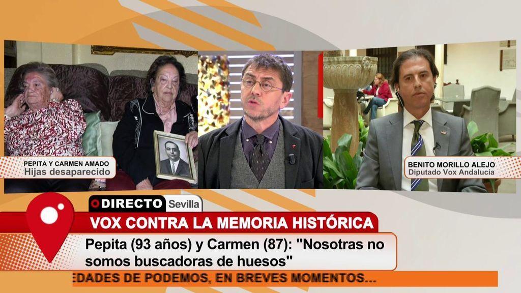 "Monedero, a Benito Morillo, diputado de VOX en Andalucía: ""Está usted siendo un sinvergüenza"""
