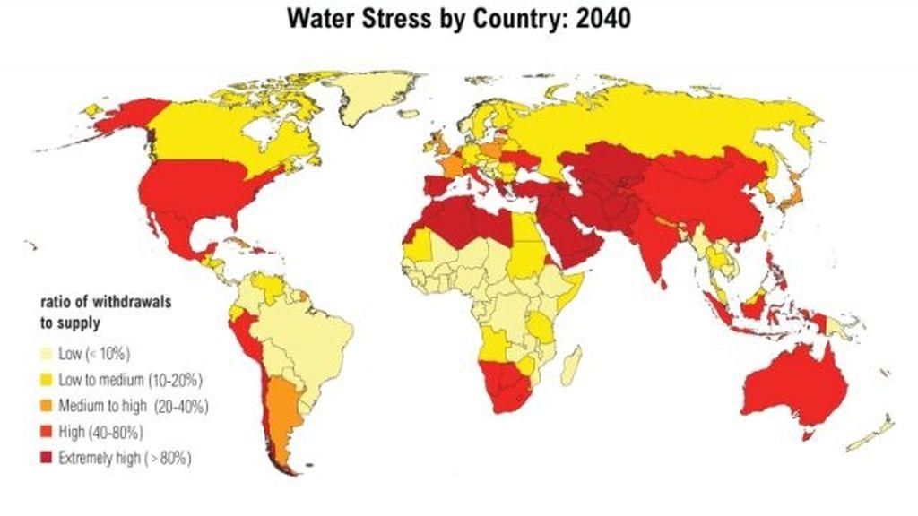 El mapa que muestra los países que se quedarán sin agua en los próximos años