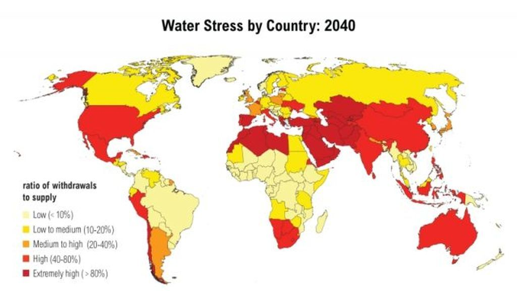 ¿Que países se quedarán sin agua en el futuro?