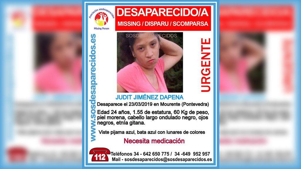 Buscan a Judit Jiménez, desaparecida el 23 de marzo en Pontevedra