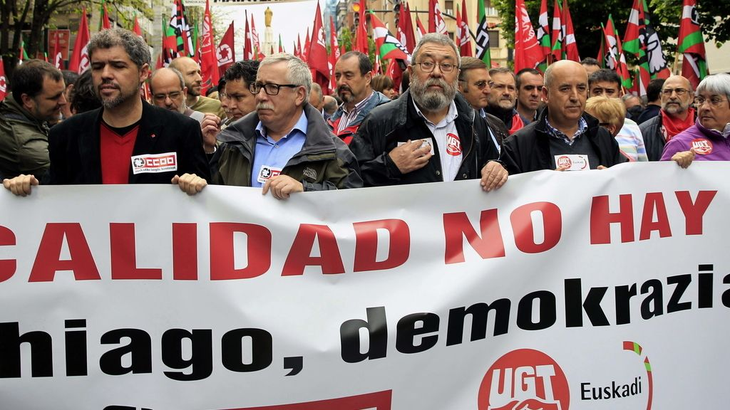 Manifestación 1º de Mayo en Bilbao. Foto: EFE
