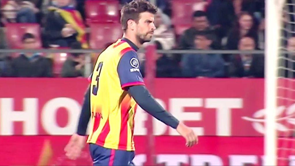 El gesto de Piqué mandando callar a los aficionados que faltaron el respeto a España
