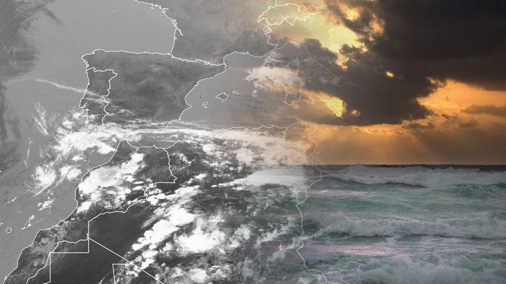 Una borrasca en Canarias crea un temporal que amenaza las playas de Cádiz