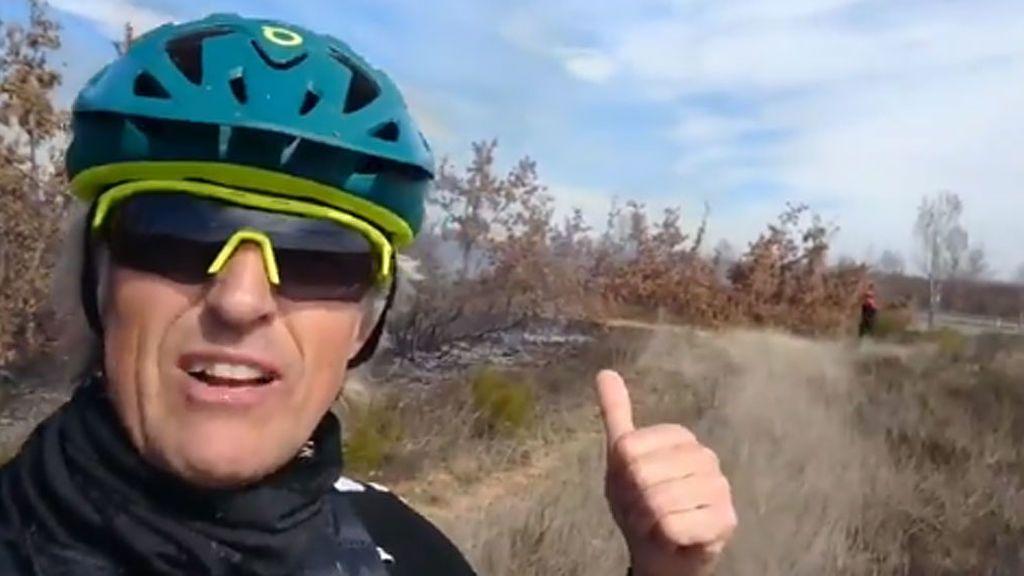Jesús Calleja, evacuado en helicóptero tras sufrir un accidente entrenando en bicicleta