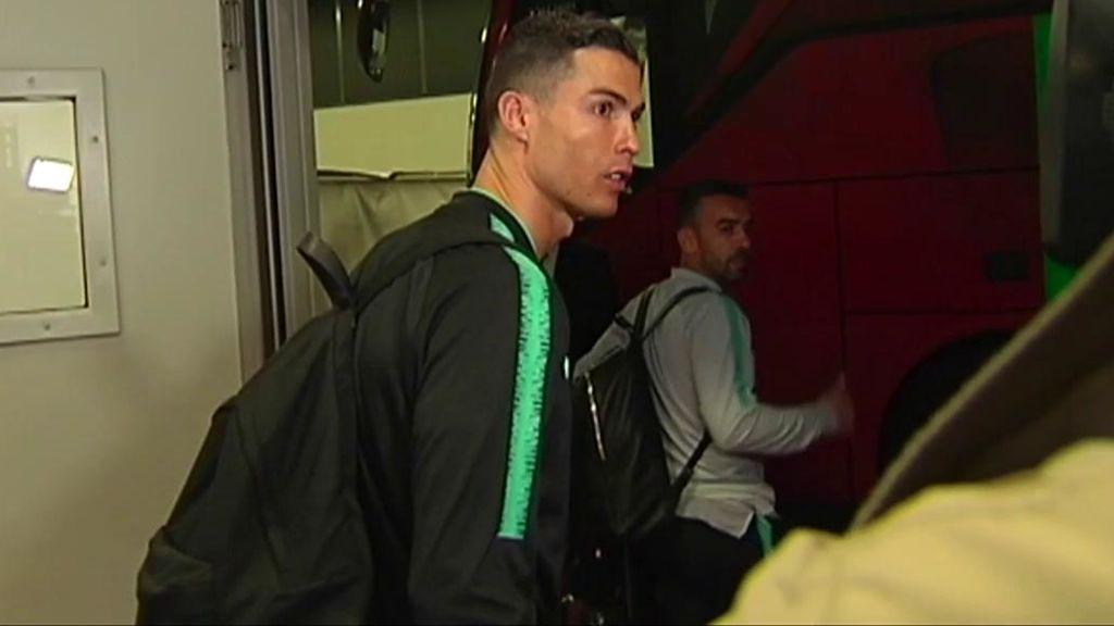 La reacción de Cristiano al ser preguntado por la sanción de la UEFA