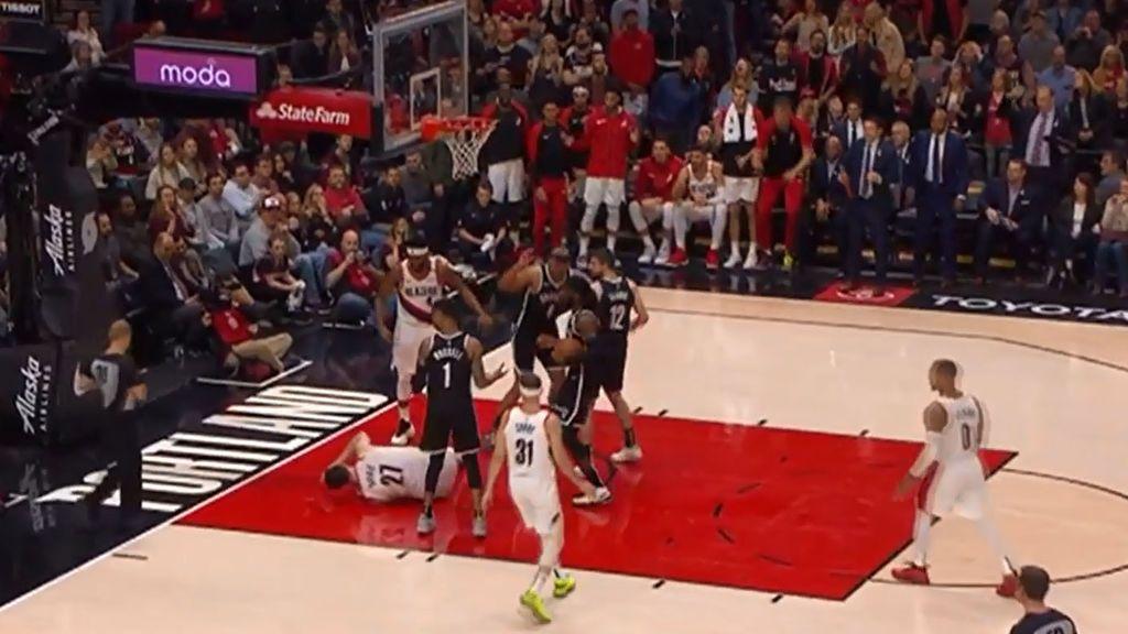 El terrible momento en el que Jusuf Nurkic se rompe la pierna durante un partido de la NBA
