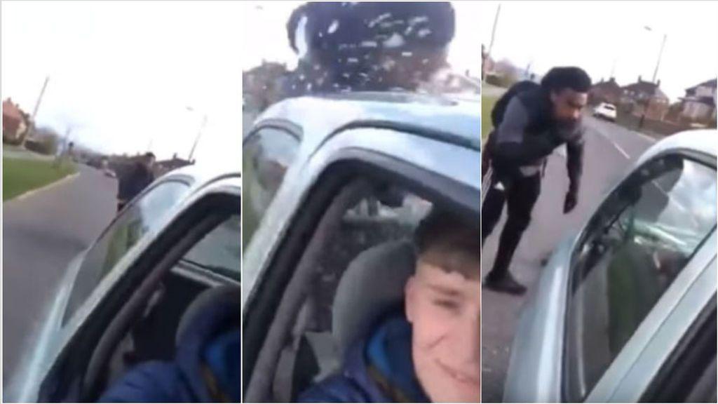 Un conductor graba con su móvil como atropella a posta a un ciclista