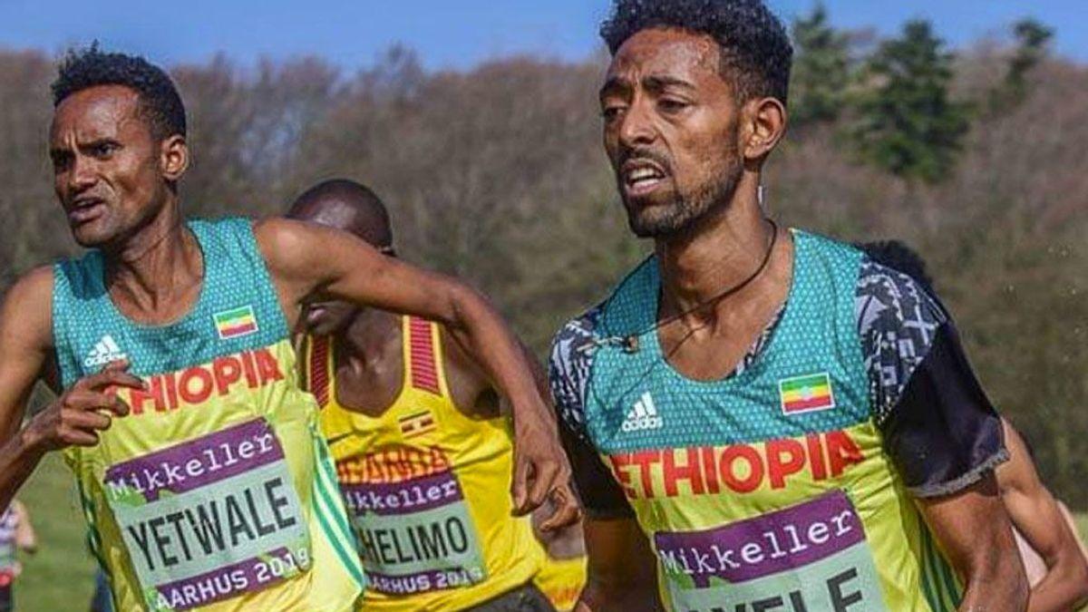 El sorprendente aspecto físico de dos etíopes participando en el Mundial Sub-20 de Cross