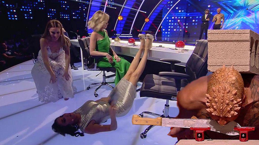 Paz Padilla no es capaz de ver la impresionante actuación de Muy Moi show