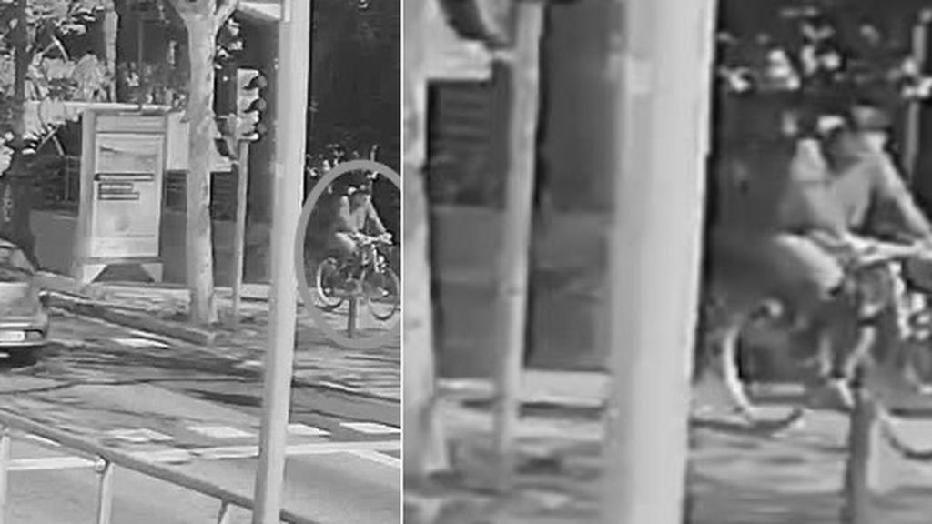 Imagen del ciclista acusado de matar a un bebé