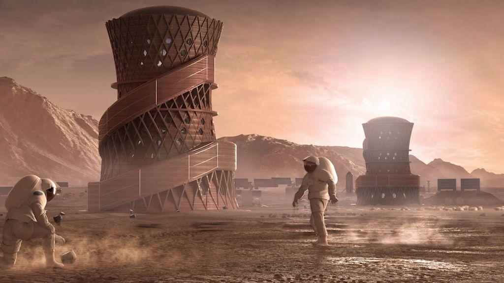 Las futuras viviendas para colonizar Marte podrían ser así