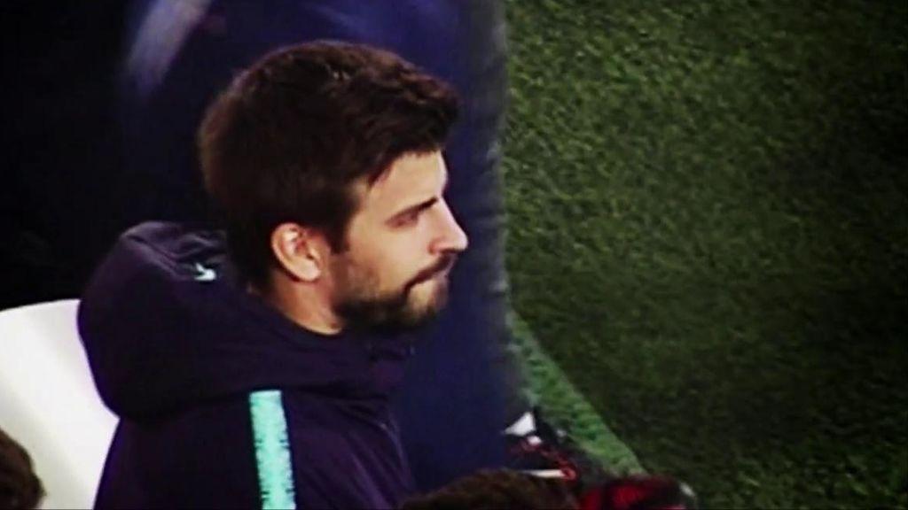 La reacción de Piqué al gol 'in extremis' de Suárez que casi sentencia la Liga