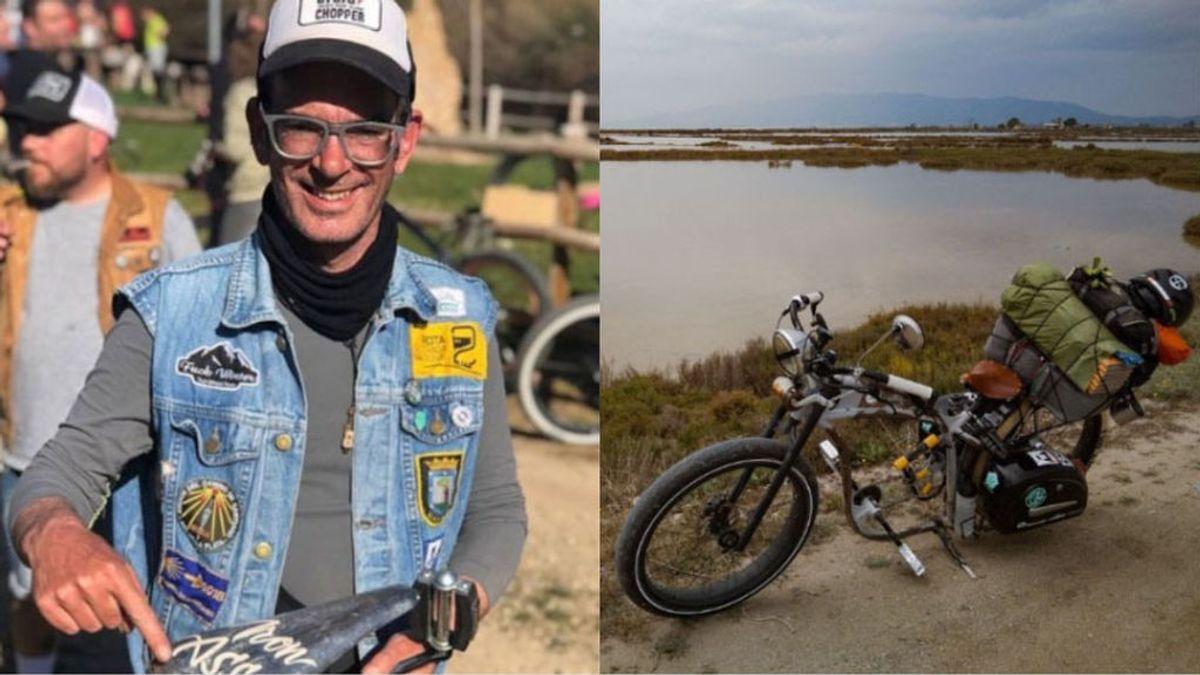Durmiendo a la intemperie y con su bicicleta: Un paciente con Hidrosadenitis recorrerá más de 5000 kilómetros para dar visibilidad a su enfermedad
