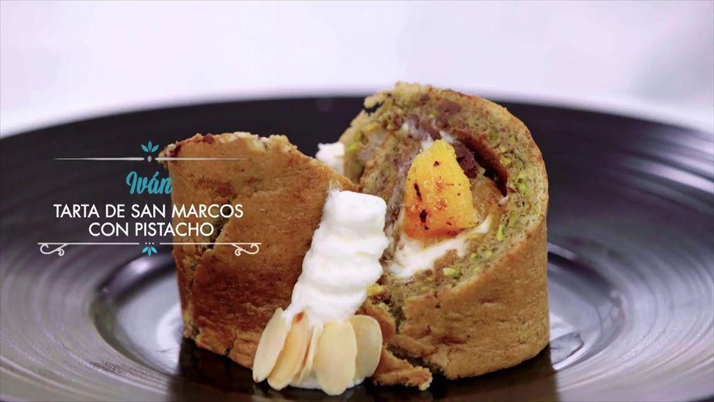 """""""San Marcos con bizcocho de pistacho"""", la apuesta de Iván por los frutos secos"""
