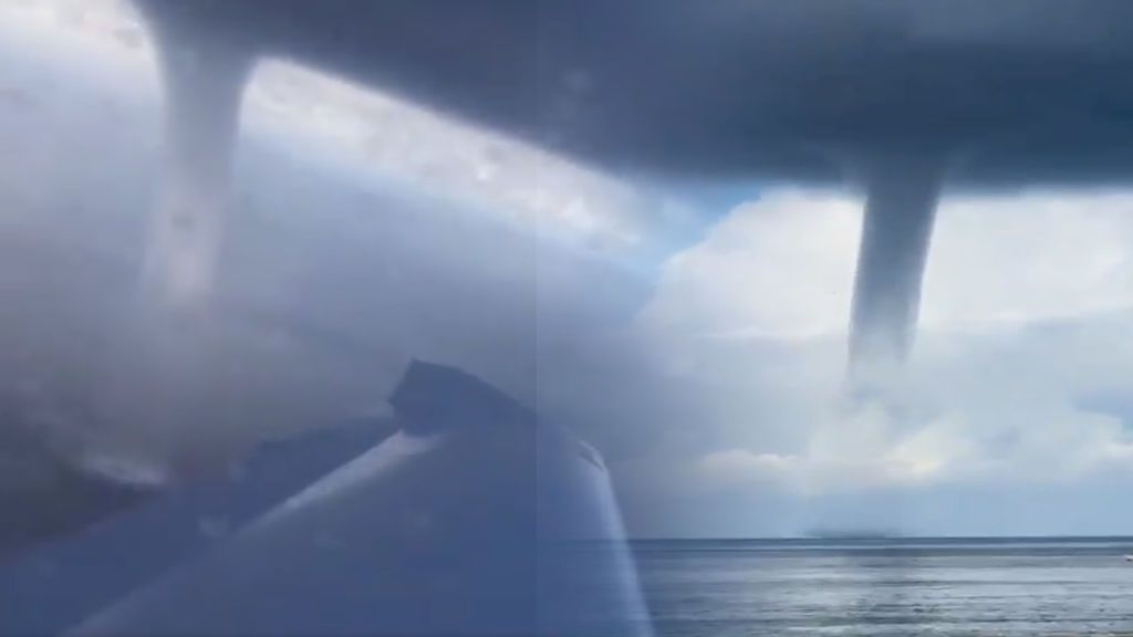 Una impresionante manga marina arrasa cerca de Canarias y se hace viral: cómo se formó