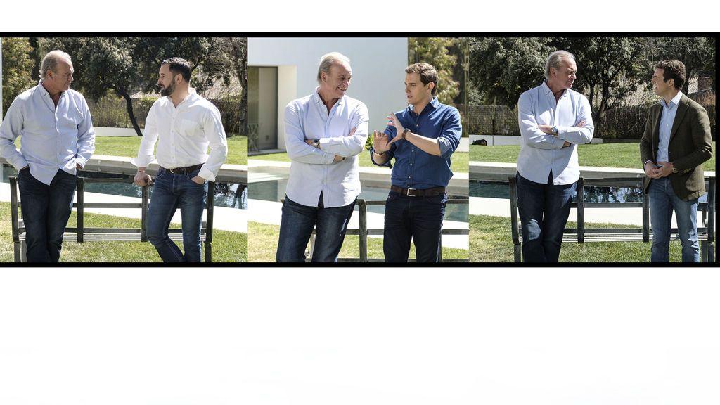 Pablo Casado, Albert Rivera y Santiago Abascal, protagonistas del especial políticos de 'Mi casa es la tuya'
