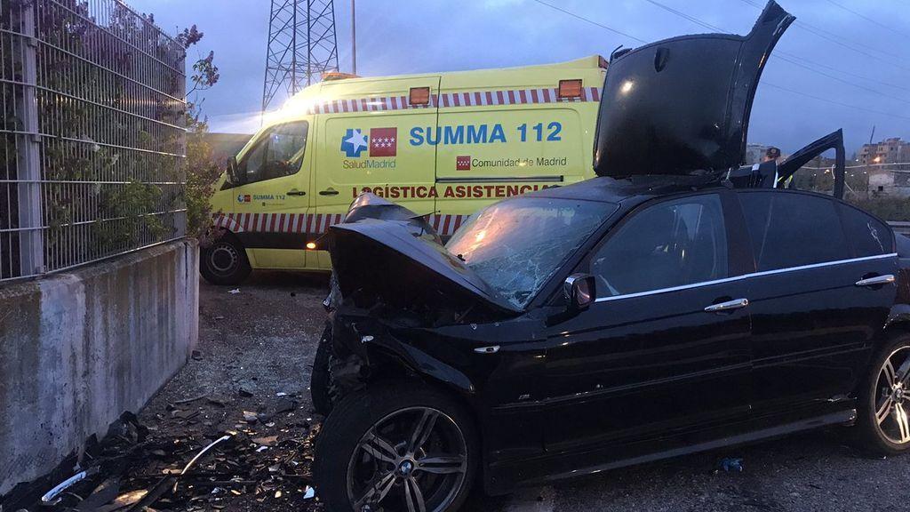 Cinco jóvenes heridos tras empotrarse contra un muro en Leganés