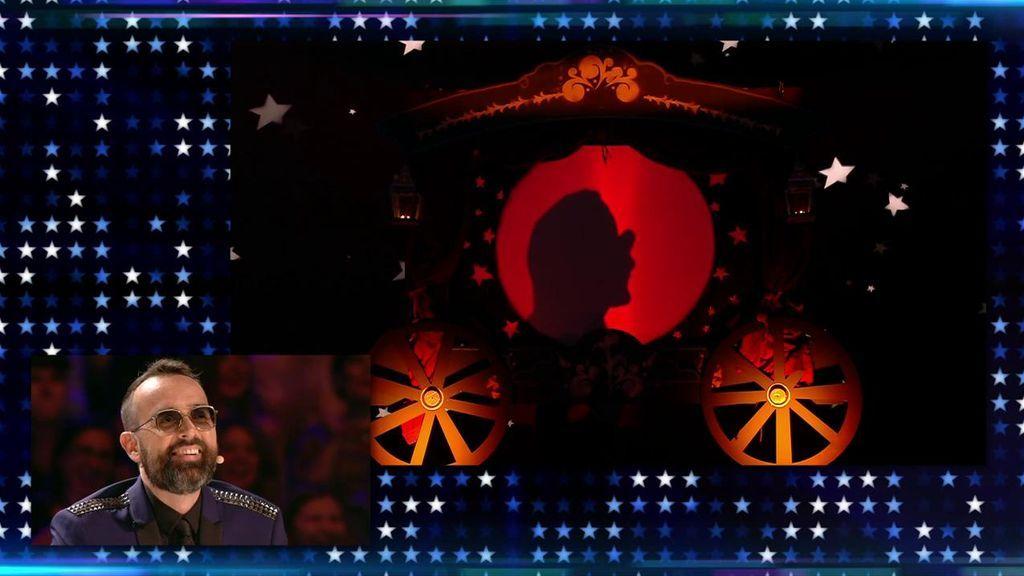 El Barón supera con creces el reto imposible de Risto y retrata las caras del jurado con sombras chinescas