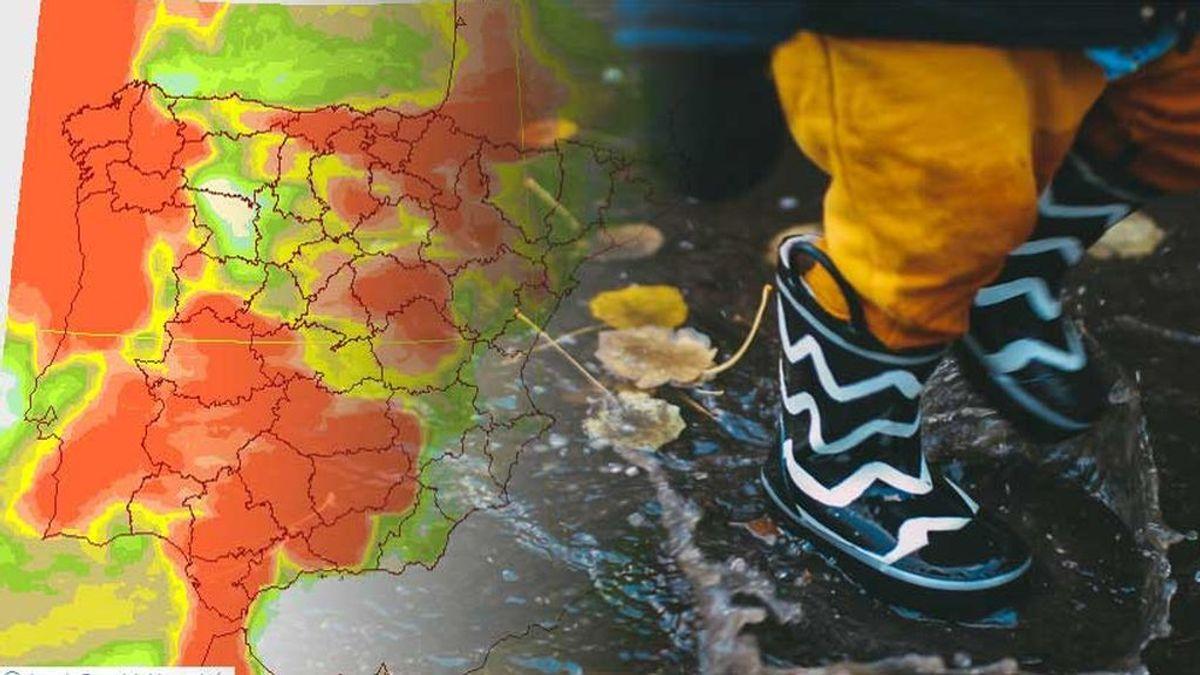 Hasta cuándo tendremos lluvia y nieve: las borrascas mojan prácticamente todo el país