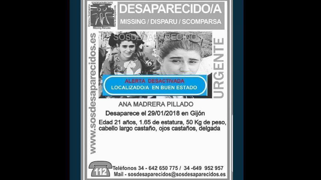 Encontrada en buen estado la joven asturiana desaparecida durante un viaje con Europa