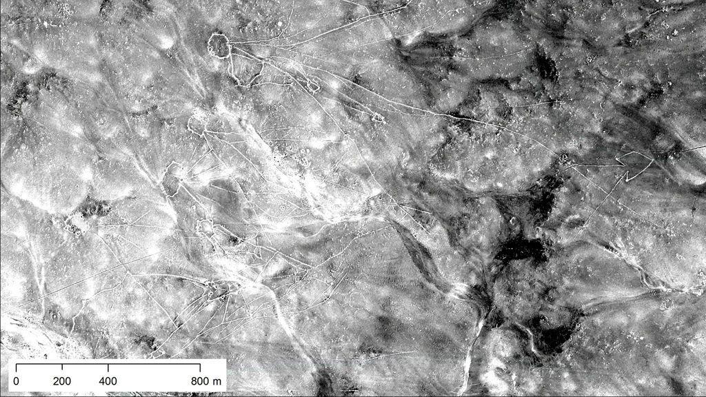 Imágenes desclasificadas de aviones espía de la Guerra Fría revelan estructuras arqueológica milenarias