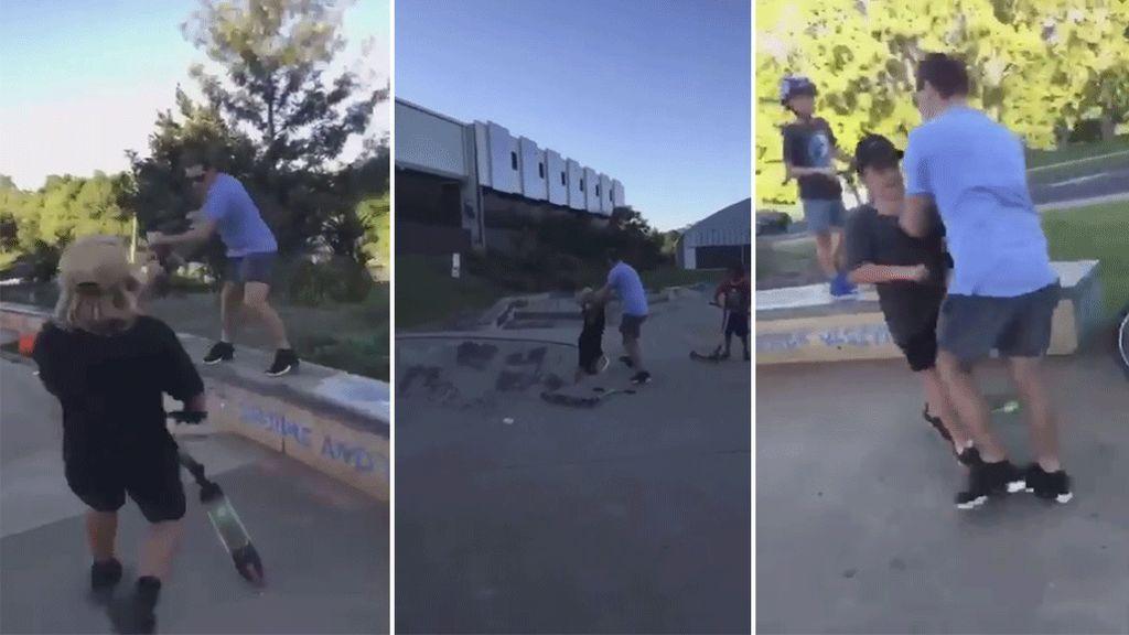 La violenta reacción de un padre contra unos niños que abusaban de su hijo en un skate-park