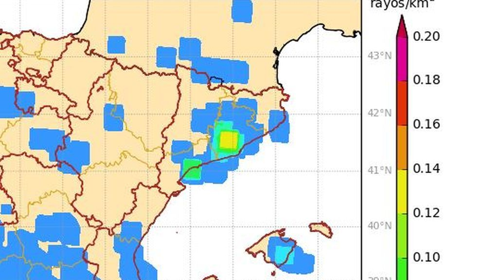 rayos Cataluña