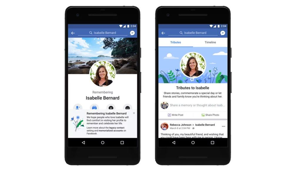 Facebook activa las cuentas tributo o conmemorativas para  los usuarios muertos