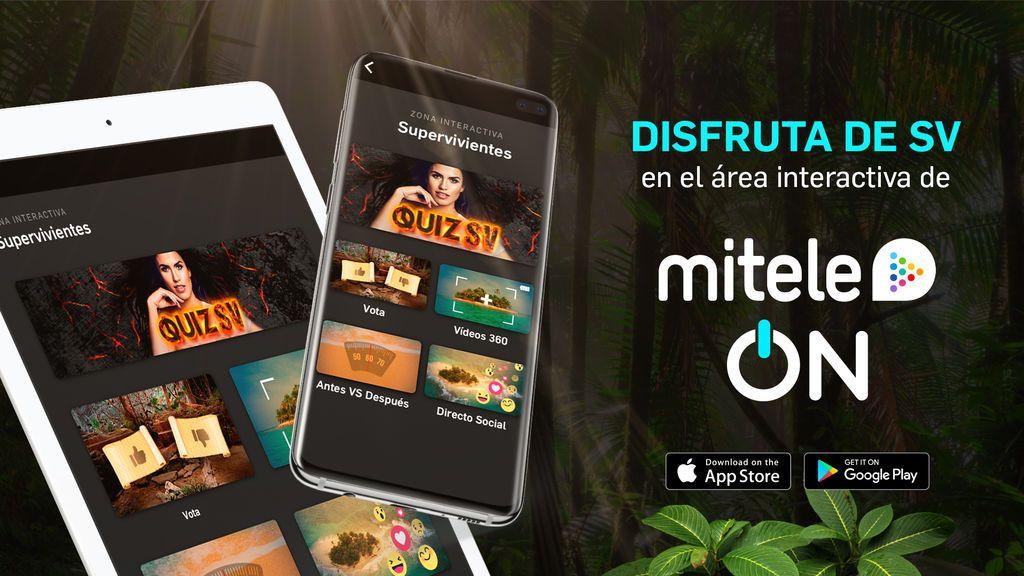 Quiz, vídeos 360º, votaciones: Engánchate al ON de Mitele y entra en la otra dimensión de 'Supervivientes'