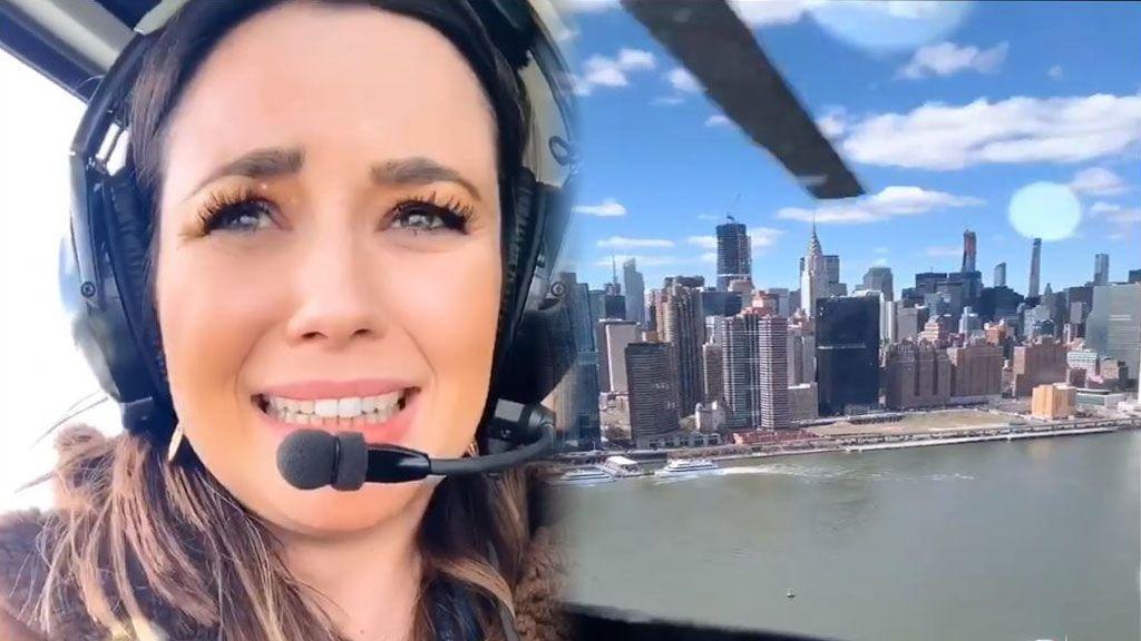 """Vivimos con Dafne Fernández su vuelo en helicóptero por NY: """"¡Lo he pasado muy mal!"""""""
