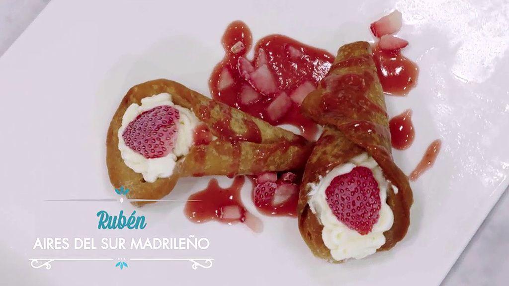Aires del sur: Aprende a preparar los pestiños de nata y fresa de Rubén