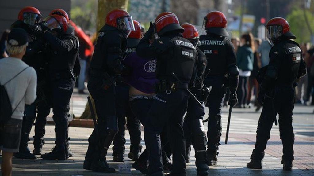 Cinco detenidos en Bilbao por los altercados durante la concentración en contra de Vox