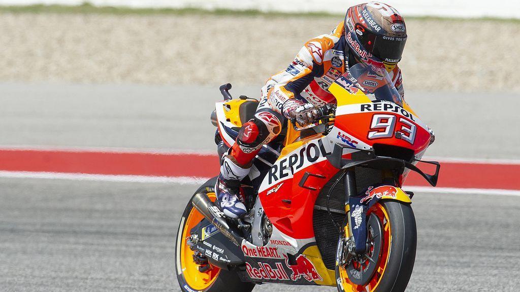 Ni una tormenta eléctrica frena a Márquez en Texas: Rossi, segundo