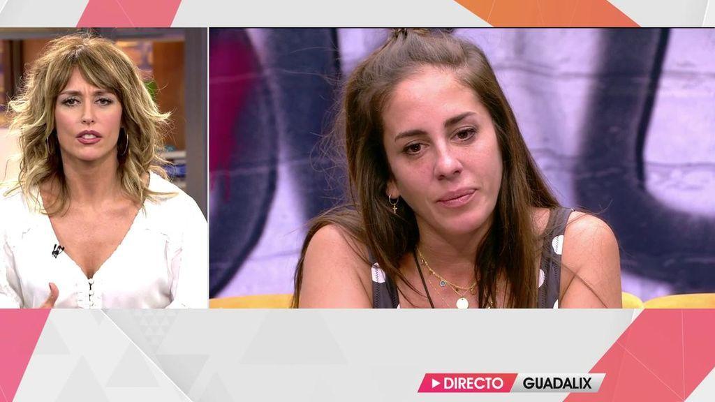 Anabel Pantoja llora emocionada: los motivos de sus lágrimas en 'Sálvame okupa'